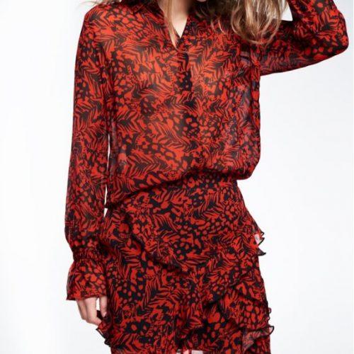 mooie blouse gecombineerd met een zwierig rokje van alix the label