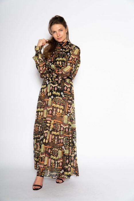 Gave, stijlvolle lange jurk Valkyrie Folk van Dante 6