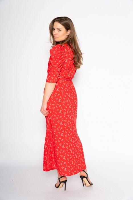 Lange wikkeljurk van Co'Couture style Springalina