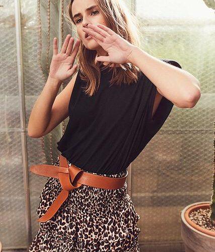 Stoer shirt met schoudervulling van Co'Couture