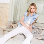Witte flared jeans met stretch