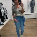Paperbag jeans met ceintuur