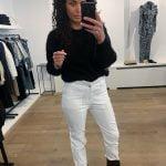 Super gave witte high waist jeans